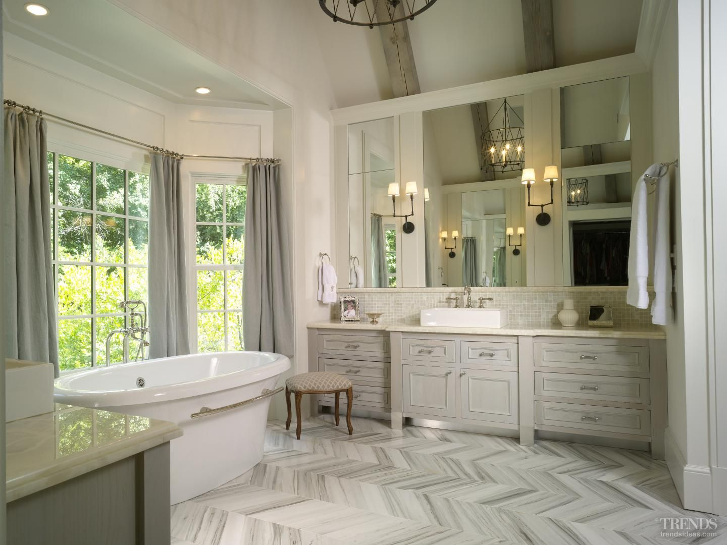 Personal space classic bathroom remodel by julia stainback for Master suite bathroom