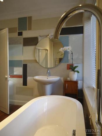 Pastel palette – bathroom painted in Resene colours