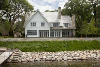 Traditional lakefront house