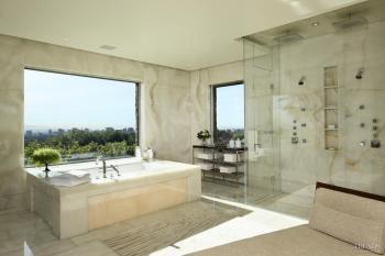 Serene onyx bathroom