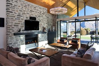 Take in the breathtaking views captured by this modern home in Wanaka, Central Otago. Image: 5