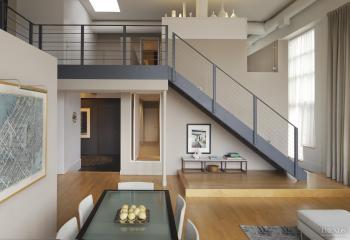 Loft-style apartment by architect David Hacin