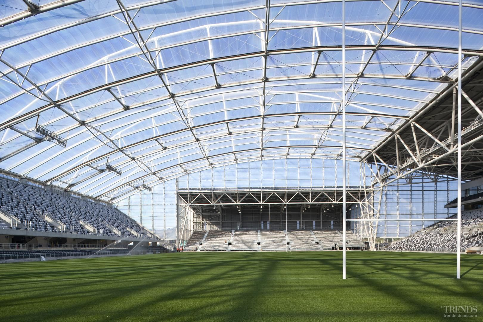 Across The Line Forsyth Barr Stadium Roof Structure Design By Sinclair Knight Merz