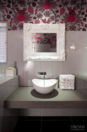 Touch of whimsy – colourful powder room