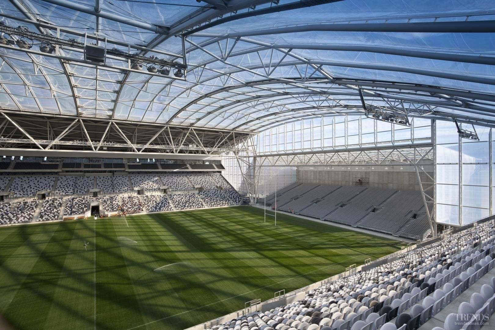 Clear Advantage Forsyth Barr Stadium Architecture By