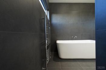 Quiet contrast in this bathroom by designer Davinia Sutton