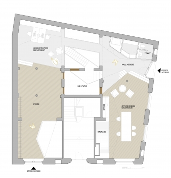 Ground floor plan of fit-out to come
