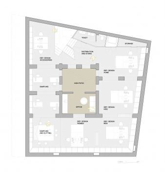 First floor plan of fit-out to come