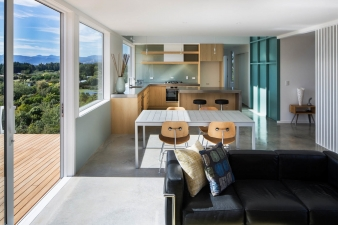 Open-plan lving, kitchen and dining with easy links to the outdoors