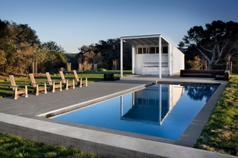 Pool in a home by Turnbull Griffin Haesloop