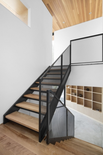 Stairs in new home by Bourgeois / Lechasseur architects