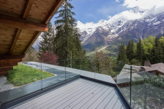 Mountain views from Chalet SOLEYÂ by  Chevallier Architectes