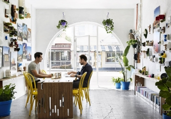 Street fontage office premises in family home by architect Andrew Maynard