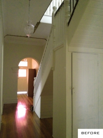 The under stair space before renovation