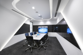 Within each and every enclosed office, meeting or huddle rooms space, flat screen technology has been utilised to create a truly connected workforce.