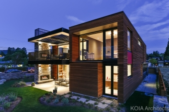 One of the challenges was to design a modern suburban home that embodied a local aesthetic