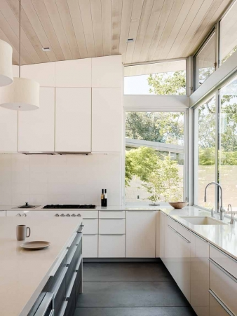 Kitchen in  new home by Feldman Architecture