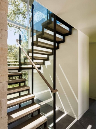 Stairs in new home by Feldman Architecture