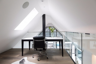 Mezzanine study area in renovated home by Koia Architects