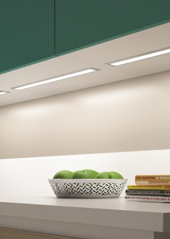 Ledye LED Lighting Profile. Aluminium Finish. Recessed Installation: Ideal for under cabinet, under shelf and inside cabinet installation. Image: 4