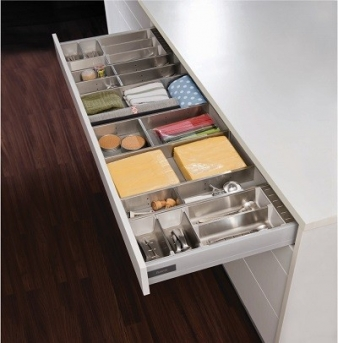 Harn Triomax Soft Close Drawer, with Impala Inoxa Stainless Steel Drawer Organisers: Perfect Team!. Image: 5