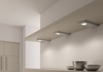 DOMUS Line™ Evometris Spotlight. Brushed Stainless Steel Finish. Natural White & Warm White Light Colours. Image: 4