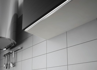 Skyline LED Master & Lighting Profile. Designed for milled groove installation under handleless wall cabinets. Image: 23