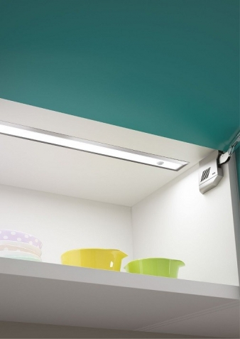 Ledye LED Lighting Profile. Aluminium Finish. Recessed Installation: Ideal for under cabinet, under shelf and inside cabinet installation. Image: 1