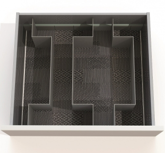 Open Space Drawer Organising System: Sample Layout for 600mm Drawer. Image: 4