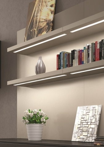 Icy LED Lighting Profile. Aluminium Finish. Recessed Installation: Ideal for under shelf and inside cabinet installation. Image: 8