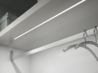 String LED Lighting Profile. Aluminium Finish. Recessed Installation.. Image: 17