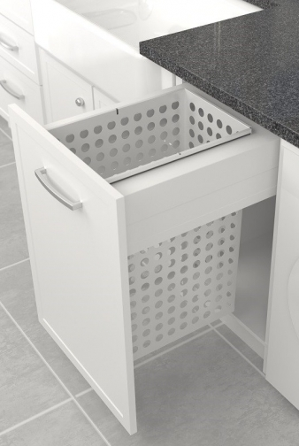 Tanova Deluxe Laundry Pull Out: 450mm Cabinet, 65L Steel Basket. Image: 1
