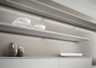 Diva LED Lighting Profile. Aluminium Finish. Recessed Installation.. Image: 14