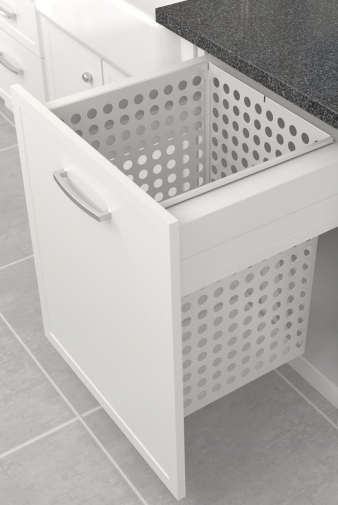 Tanova Deluxe Laundry Pull Out: 600mm Cabinet, 100L Steel Basket. Image: 2