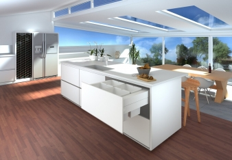 Tanova Deluxe Kitchen Bin: Many Soft Close Configuration Options for Cabinets from 300mm to 800mm. Image: 5