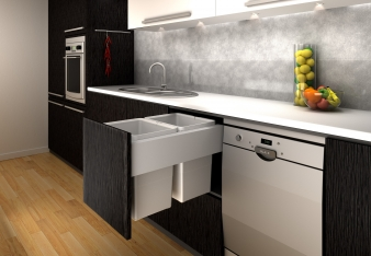 Tanova Simplex Plus Kitchen Bins: Options for Cabinets 400mm and 450mm Wide. Image: 3