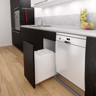 Tanova Kitchen Bin: Drawer Frame Insert Model - Options for 300mm, 400mm and 600mm Cabinets. Image: 1