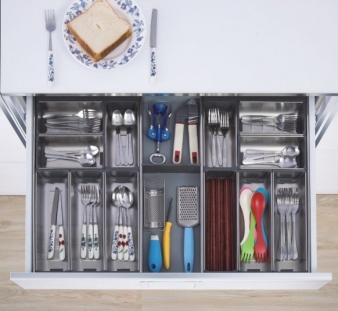 Impala Inoxa Stainless Steel Cutlery Drawer Organisers: Pre Made Sets or Make Your Own from Individual Components. Image: 1