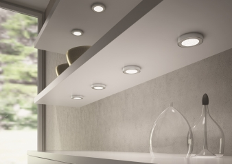 DOMUS Line™ Metris Spotlight with Straight Spacer. Chrome Plated, Satin Nickel & White Finish Options. Warm White & Natural White Light Colours.. Image: 6