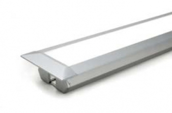 Ledye LED Lighting Profile. Aluminium Finish. Recessed Installation: Ideal for under cabinet, under shelf and inside cabinet installation. Image: 5