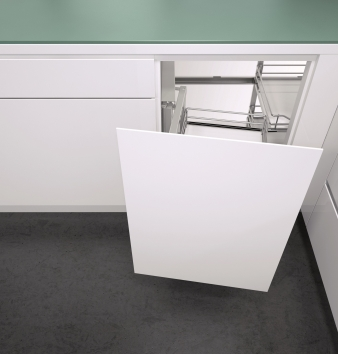Vauth Sagel's Wari Unit for Blind Corners: Front Baskets Open With Door, Rear Baskets Swing Forward For Easy Access. Image: 3