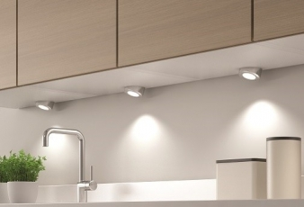 DOMUS Line™ Angled Spacer for Smally LED Spotlight: Available in Aluminium, Satin Nickel and Chrome Finishes. Image: 3