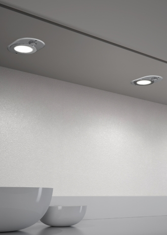 DOMUS Line™ Akira Spotlight. Brushed Stainless Steel Finish. Natural White & Warm White Light Colours. Image: 2