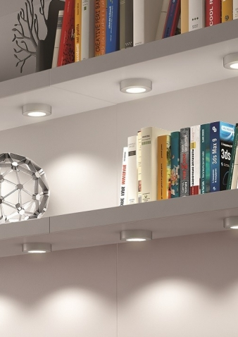 DOMUS Line™ Straight Spacer for Smally LED Spotlight: Available in Aluminium, Satin Nickel and Chrome Finishes. Image: 2
