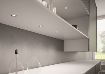 DOMUS Line™ Metris Spotlight. Chrome Plated, Satin Nickel & White Finish Options. Warm White & Natural White Light Colours.. Image: 7