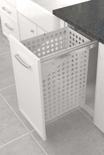 Tanova Simplex Laundry: 350mm Cabinet, 65L Steel Basket, Drawer Front Type. Image: 5