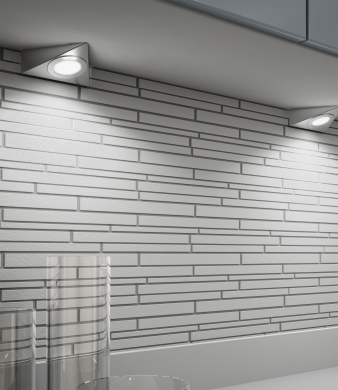 DOMUS Line™ Giza Spotlight. Brushed Stainless Steel Finish. Natural White & Warm White Light Colours. Image: 3