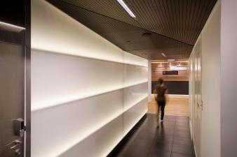 Potentia Fitout - walkway to reception. Image: 5