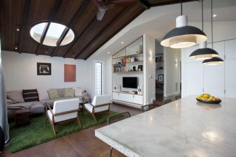 Family Living Area extends Renovated Villa. Image: 2