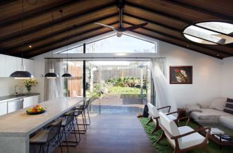 Renovated Villa opens to outside space. Image: 1